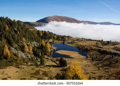 Lake Windebensee In The Nocky Mountains Of Carinthia Austria