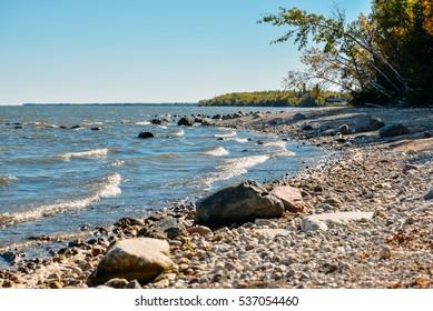 Lake Winnipeg near Camp Morton, Gimli MB