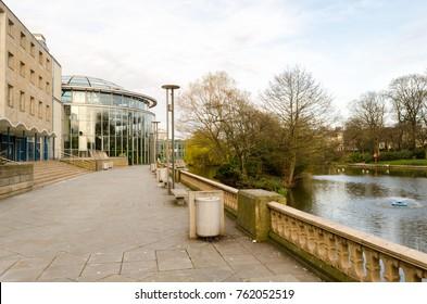The Lake and Winter Gardens, in Mowbray Park, Sunderland, Tyne & Wear