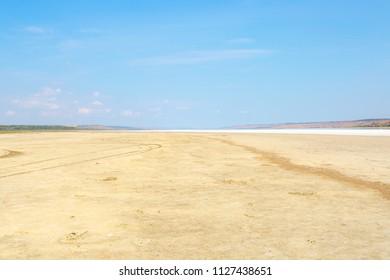 Lake without water, global warming