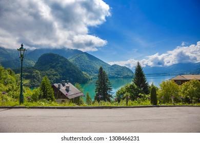 Lake Wolfgang in Austrian Alps