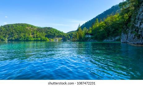 Lake Wolfgangsee, Austria, on a beautiful spring morning