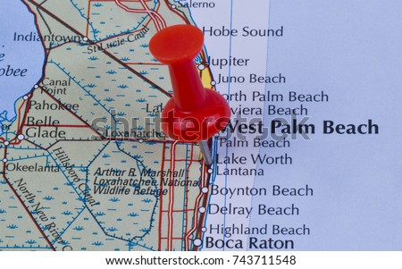 Map Of Lake Worth Florida.Lake Worth Florida Palm Beach County Stock Photo Edit Now