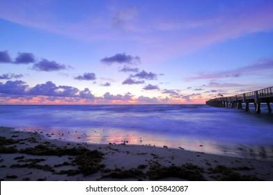 Lake Worth Pier in Lake Worth, Florida / Blue Hour
