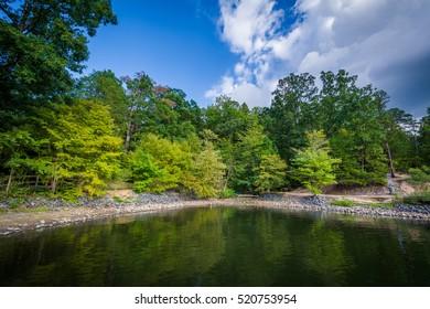 Lake Wylie, at McDowell Nature Preserve, in Charlotte, North Carolina.