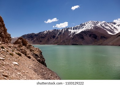 Lake of Yeso. Santiago of Chile