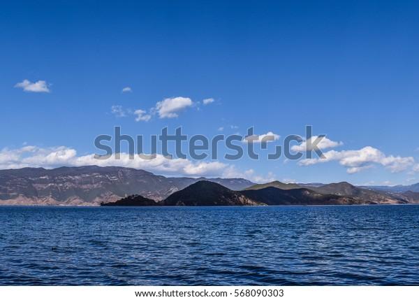 Lake in Yunnan, China.