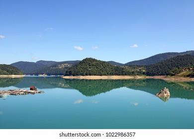 Lake Zaovine Tara mountain Serbia landscape summer season