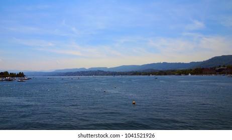 Lake Zurich in summer, Zurich, Switzerland