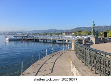 Lake Zurich, view from Zurich city