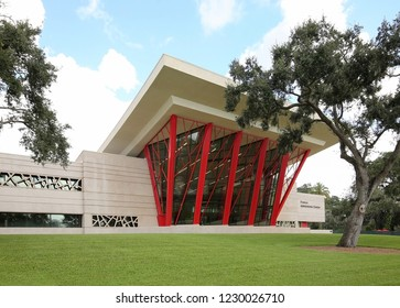 LAKELAND, FL- OCTOBER:  France Admission Center on the Florida Southern College campus houses the department of enrollment. In 2012 the campus was voted the most beautiful, as seen on October 6, 2018.