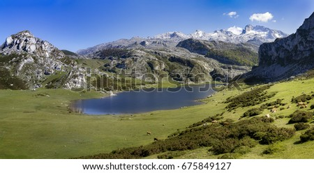 Lakes of Covadonga, Asturias (Spain).