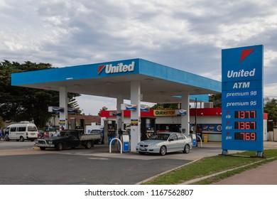 Lakes Entrance, Victoria, Australia - December 19 2017: UNITED Fuel Station