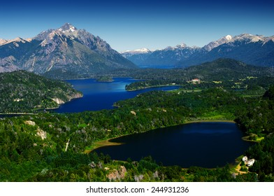 Lakes and mountains of Bariloche, Patagonia, Argentina