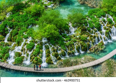Lakes of The Plitvice Lakes National Park in Croatia
