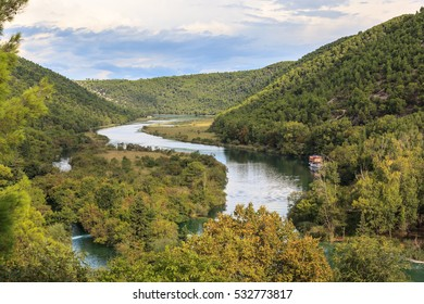 Lakes and rivers in Krka National Park Croatia