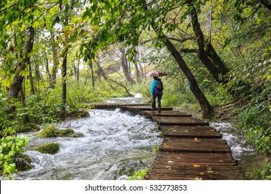 Lakes and rivers in Plivitcka Lakes National Park. Croatia