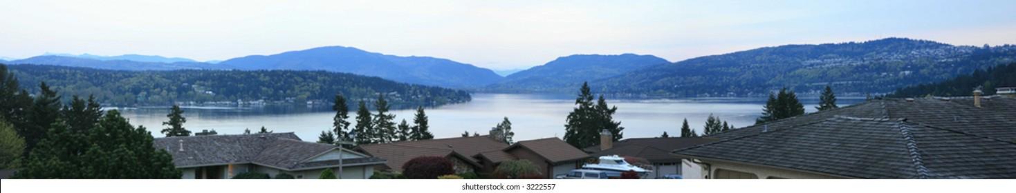 Lakes Sammamish panorama - Bellevue, Washington