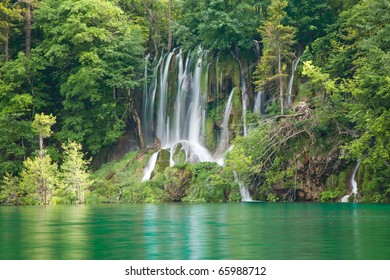 Lakes and waterfall National Park, Croatia