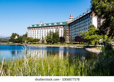 LAKESIDE, CALIFORNIA - JUNE 18, 2017:  The Barona Resort and Casino, located on the Barona Indian Reservation in San Diego County, and home to the world class Barona Creek Golf Club.