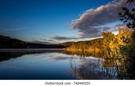 Lakeside morning at sunrise