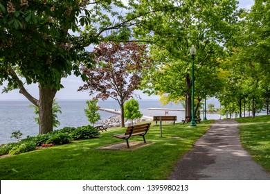 Lakeside Park in Oakville lake shore.