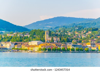 Lakeside of Swiss city Vevey