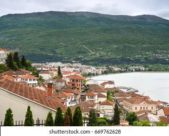 Lakeside town
