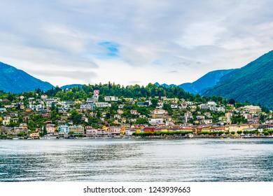 Lakeside view of Ascona, Switzerland