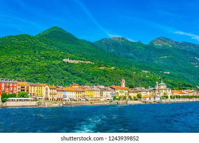 Lakeside view of Cannobio, Italy