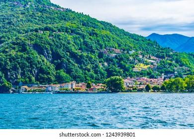 Lakeside view of Maccagno con pino e veddasca, Italy