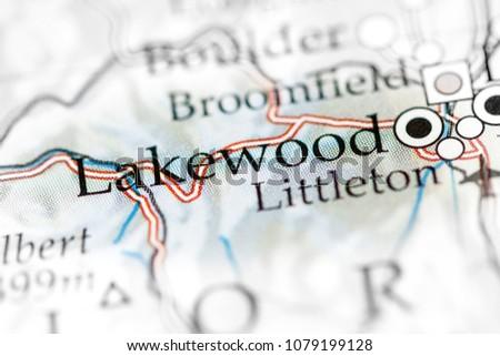 Lakewood Colorado USA On Map Stock Photo (Edit Now) 1079199128 ...