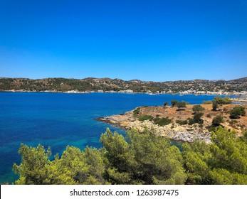 Lakki Bay in Leros Greece