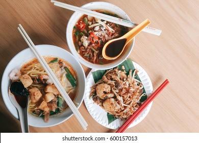 Laksa, Curry Mee and Cha Koay Teow - Penang Food