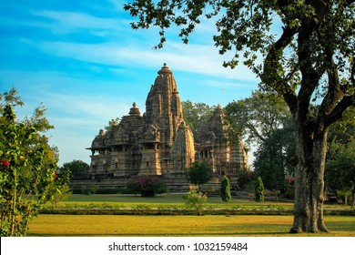 Lakshman temple, Western Group of Temples, Khajuraho, Madhya Pradesh, India. it's an UNESCO world heritage site.