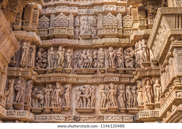 Lakshmana Temple Khajuraho Group Monuments Madhya Stock
