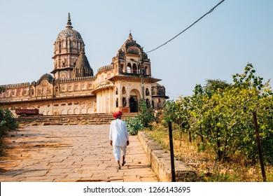 Lakshmi Narayan Mandir ancient ruins in Orchha, India