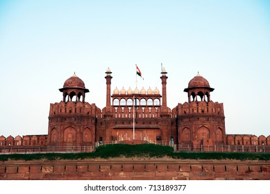 Lal Qila (Red Fort) in Delhi. Lal Qila is a UNESCO World Heritage site.