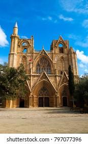 Lala Mustafa Pasha Mosque (Saint Nicolas Cathedral) Famagusta, North Cyprus,