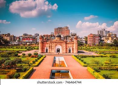 Lalbagh Fort (লালবাগের কেল্লা) – Dhaka, Bangladesh Mausoleum of Bibipari in Dhaka City's Landscape buildings, Beautiful Landmark.