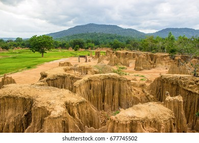 Lalu  - Lalu  is a natural attraction in Sa Kaeo province Lalu is a collection of earthern pillar formations caused by erosion and subsidence in the ground resulting in gorges or canyons