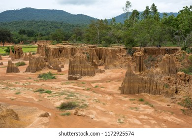 Lalu Thailand's Canyon in Sa Kaeo province, refers to a subsided land which is a result of a natural phenomenon caused by the erosion of rainwater and the subsidence or collapse of soil.