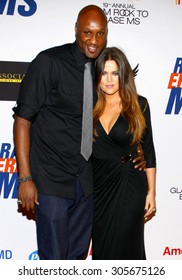 Lamar Odom and Khloe Kardashian at the 19th Annual Race To Erase MS held at the Hyatt Regency Century Plaza in Century City, USA on May 18, 2012.