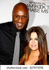 Lamar Odom and Khloe Kardashian at the 19th Annual Race To Erase MS held at the Hyatt Regency Century Plaza in Los Angeles, California, United States on May 18, 2012.