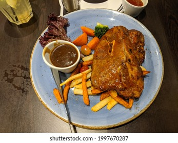 lamb chop fries and blackpepper gravy