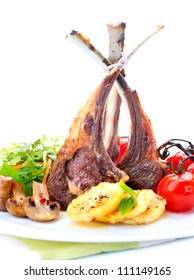 Lamb Chops. Roasted Meat
