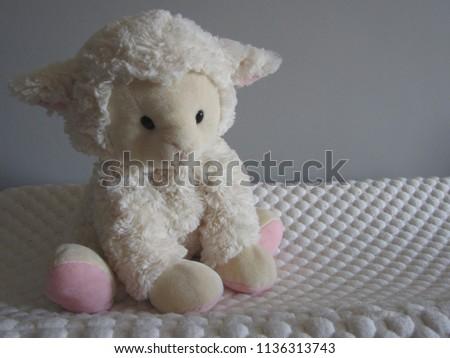 Lamb Plush Toy White Pink Lamb Stock Photo Edit Now 1136313743