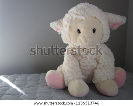 Lamb Plush Toy White Pink Lamb Stock Photo Edit Now 1136313746