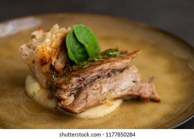Lamb roast with potato