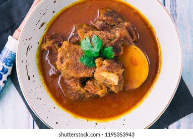 Lamb Vindaloo with rice